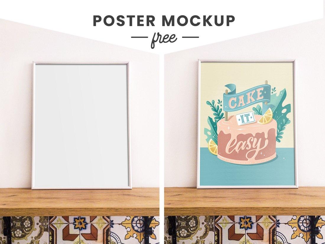 Free Print Poster Mockup