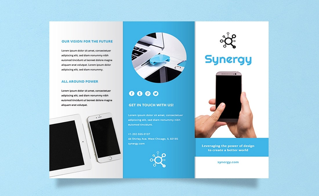 Free Product Word Brochure template