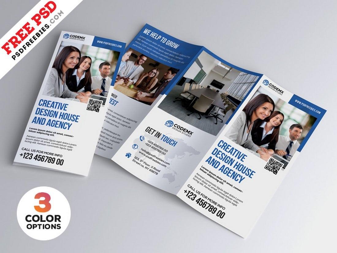 Free Professional A4 Tri-fold Brochure