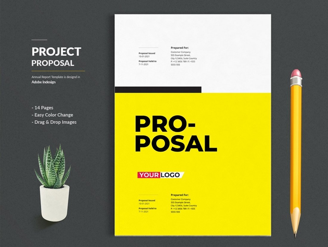Free Project Proposal Brochure Template