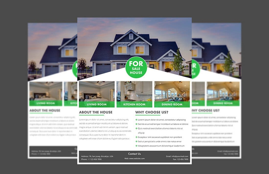 Free Real Estate Flyer PSD