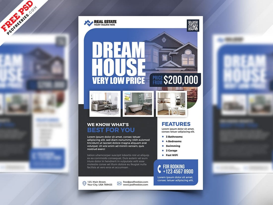 Free Real Estate Marketing Flyer PSD