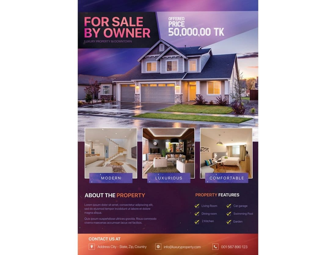 Free-Real-Estate-Property-Flyer 30+ Best Real Estate Flyer Templates design tips  Inspiration|flyer|property|real estate