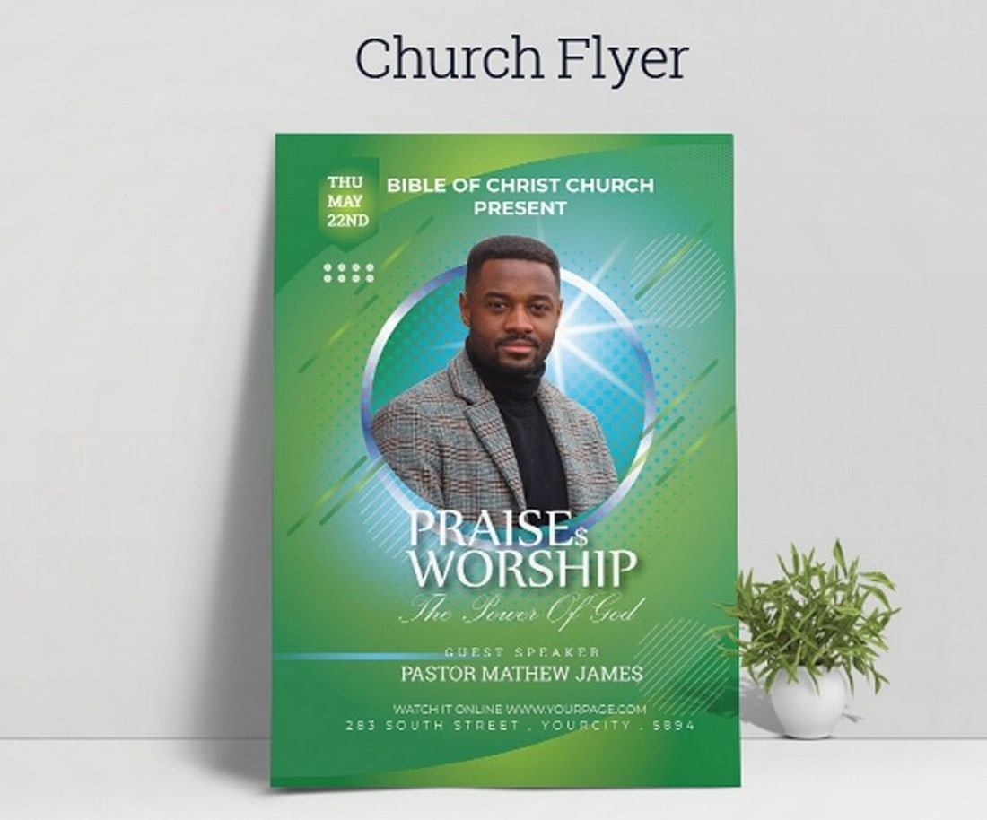 Free Religious Church Flyer Template
