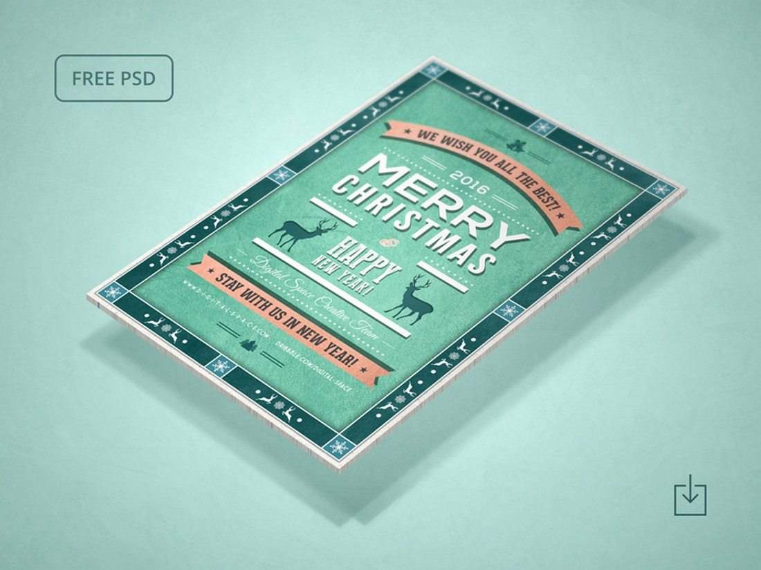 Free-Retro-Christmas-and-New-Year-Flyer Typographic Posters: 100 Stunning Examples design tips