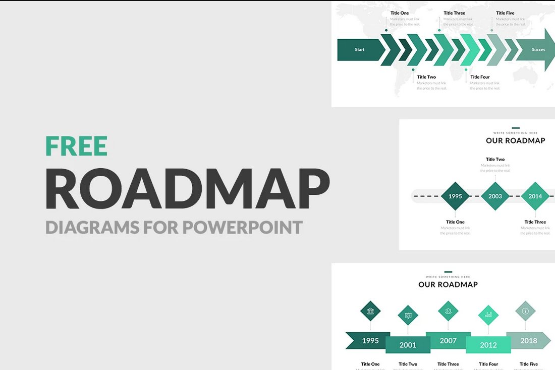 Free Roadmap Diagrams for PowerPoint