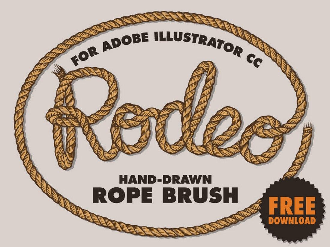 Free-Rope-Brush-for-Illustrator 25+ Best Free Adobe Illustrator Brushes 2021 design tips