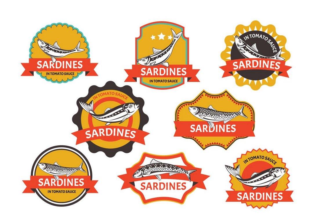 Free Sardines Tin Label Templates