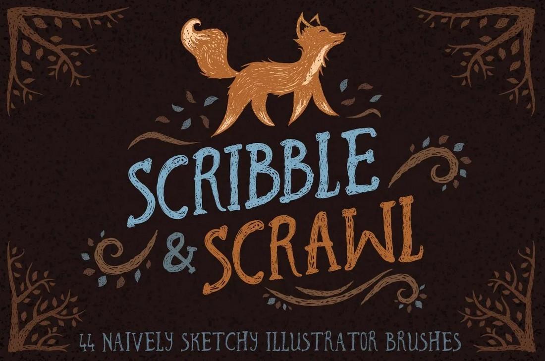 Free-Scribble-Scrawl-Brushes-for-Illustrator 25+ Best Free Adobe Illustrator Brushes 2021 design tips