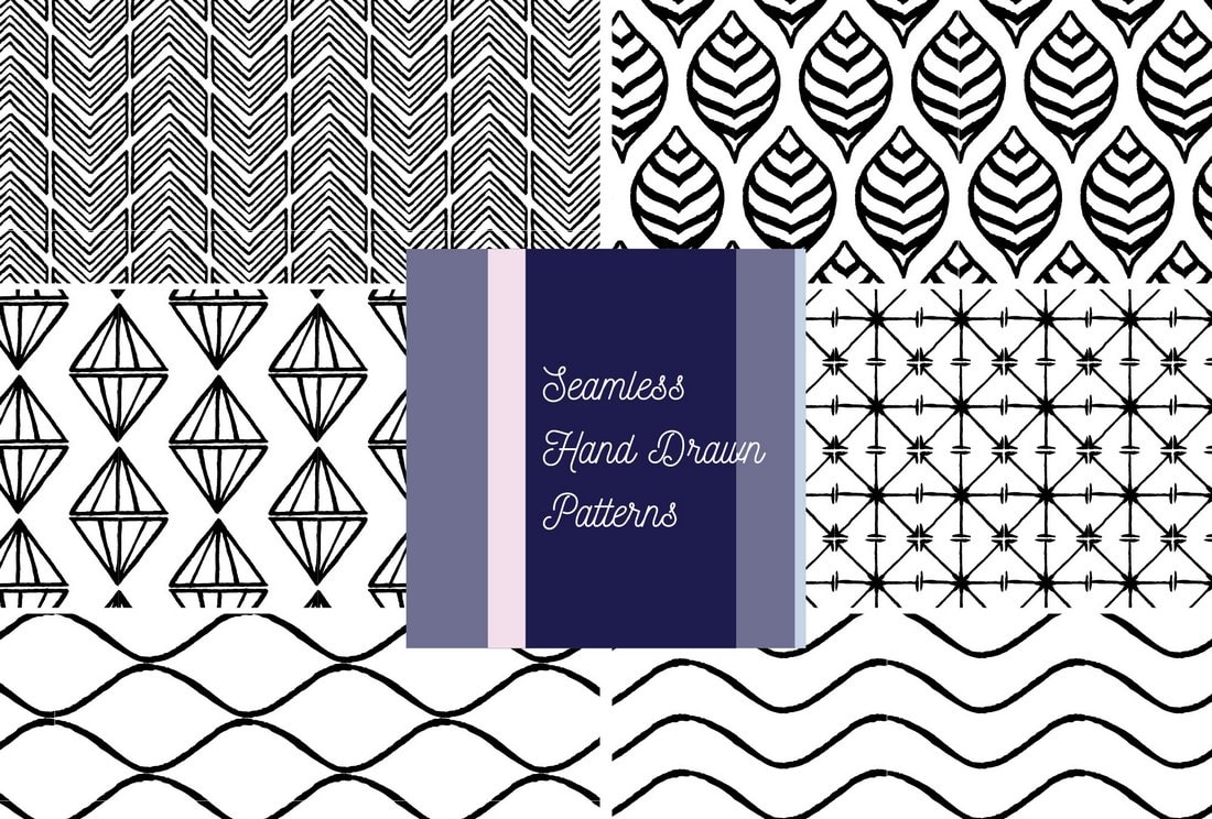 Free Seamless Hand Drawn Vector Patterns