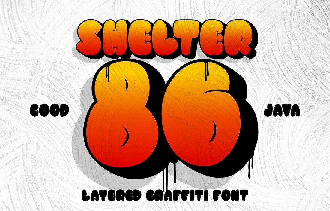 Free-Shelter-86-Graffiti-Font 60+ Best Free Fonts for Designers 2020 (Serif, Script & Sans Serif) design tips