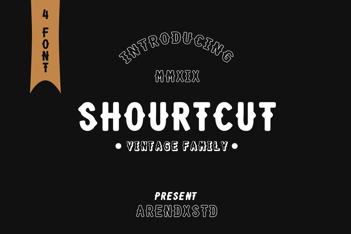 Free Shourtcut Vintage Font