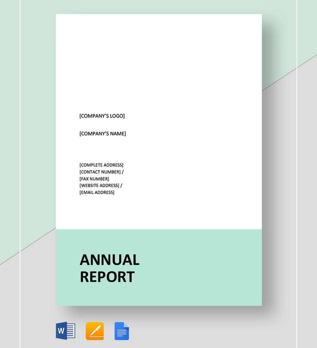 Free-Simple-Annual-Report-Template 30+ Annual Report Templates (Word & InDesign) 2020 design tips  Inspiration|annual|report|template