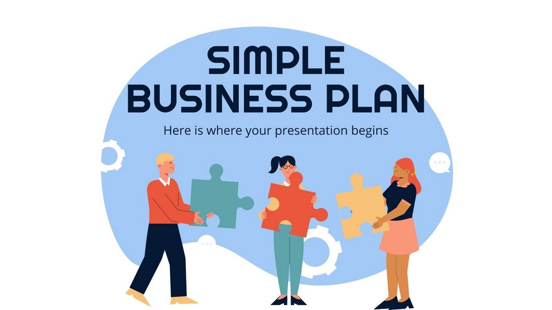 Free Simple Business Plan PPT Template