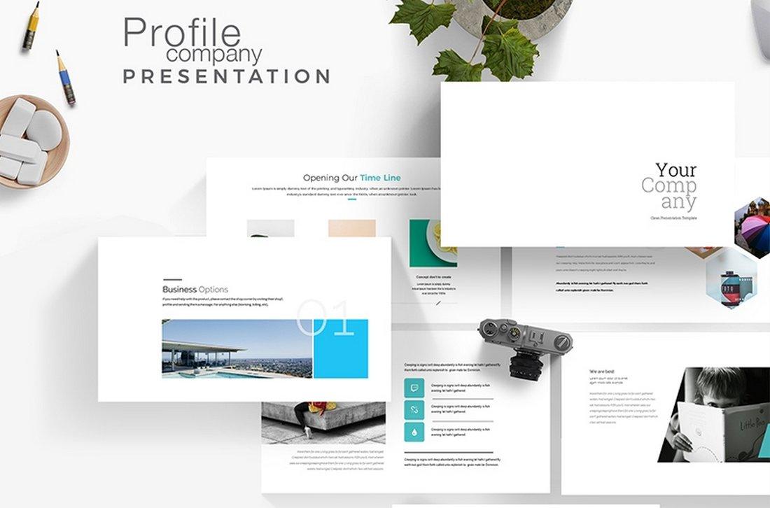 Free Simple Company Profile Presentation Template