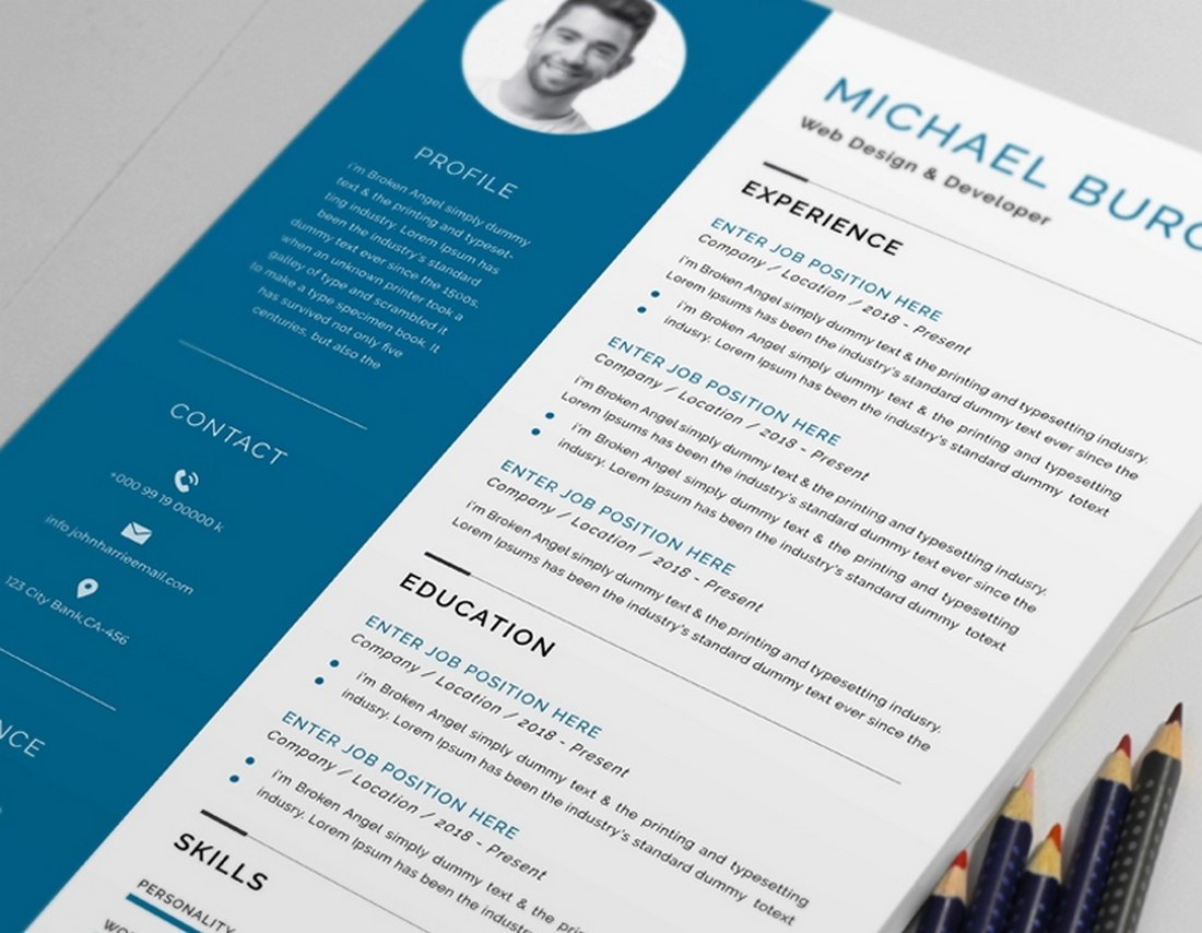 Free Simple Resume Template for Word
