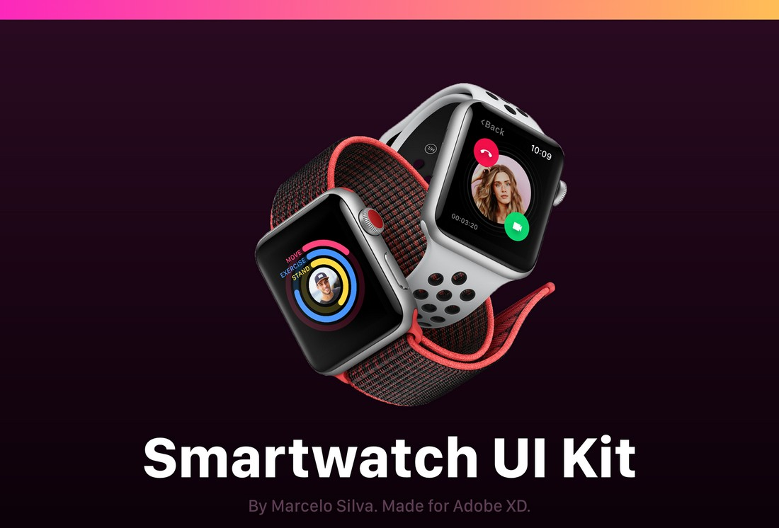 Free-Smartwatch-UI-Kit-for-AdobeXD 30+ Best Adobe XD UI Kits + Templates 2020 design tips