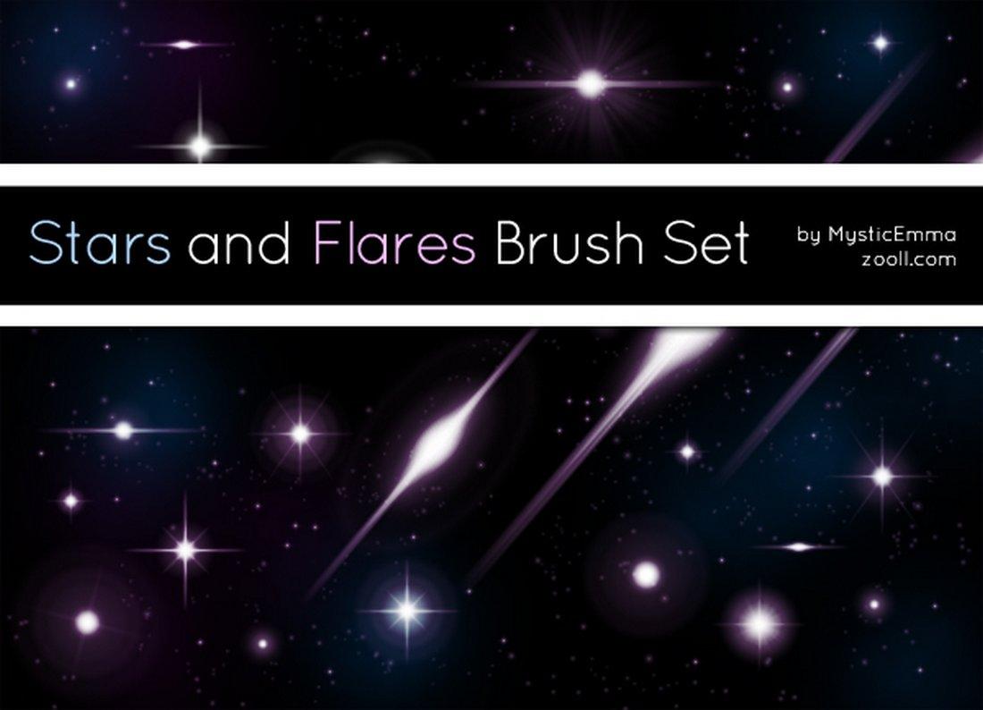 Free Stars And Flares Brush Set