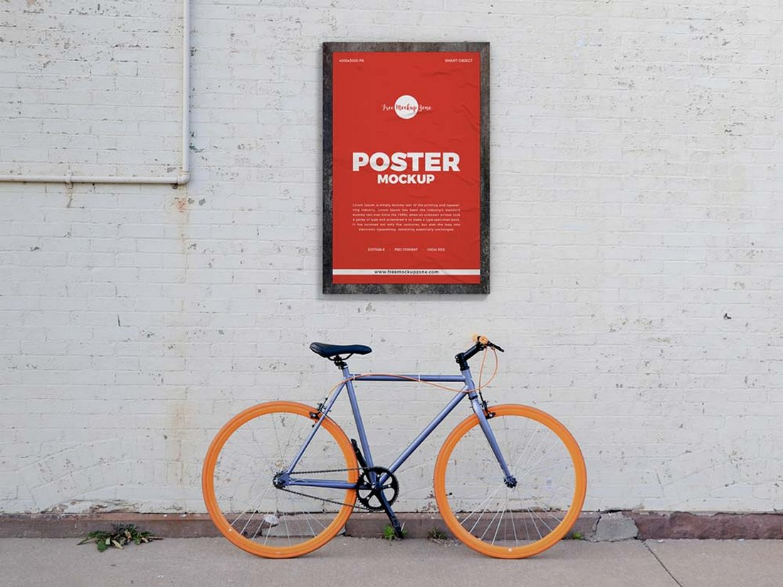 Free Street Wall Poster Mockup