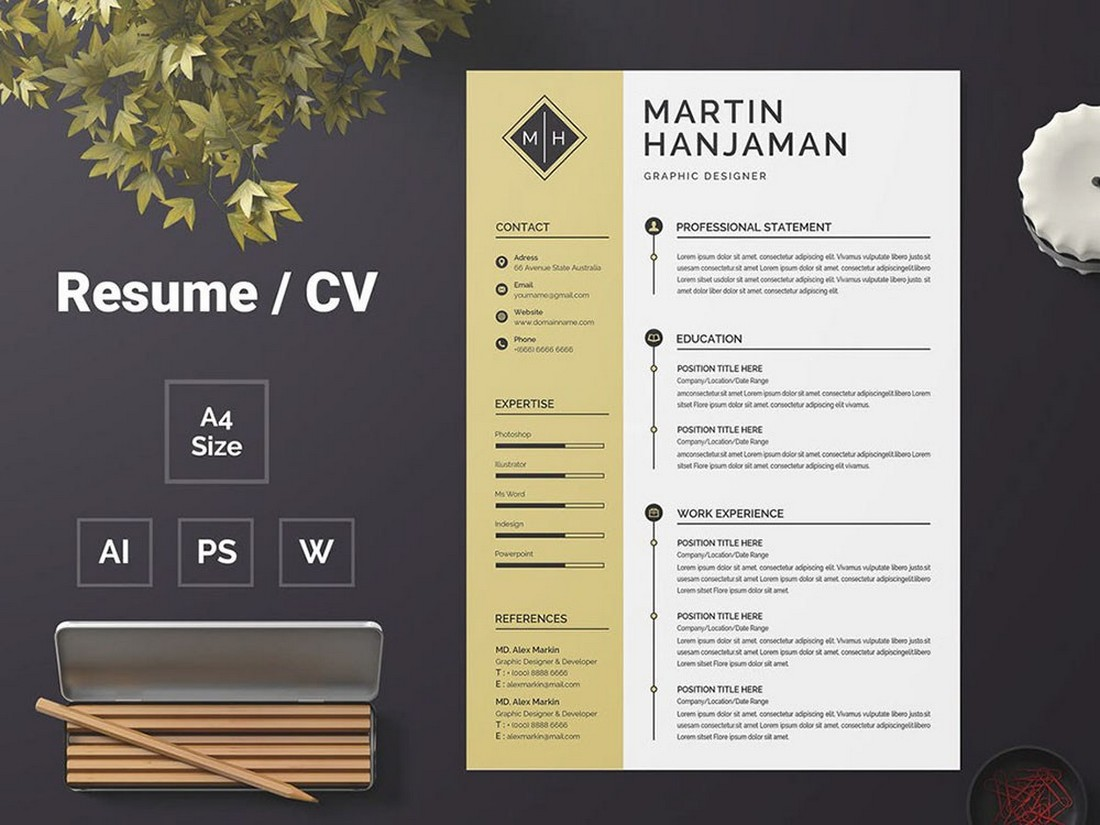 Free Student CV & Cover Letter Word Template
