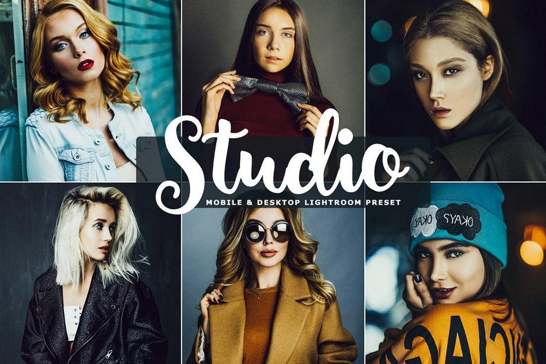 Free Studio Photoshop Action & Lightroom Preset