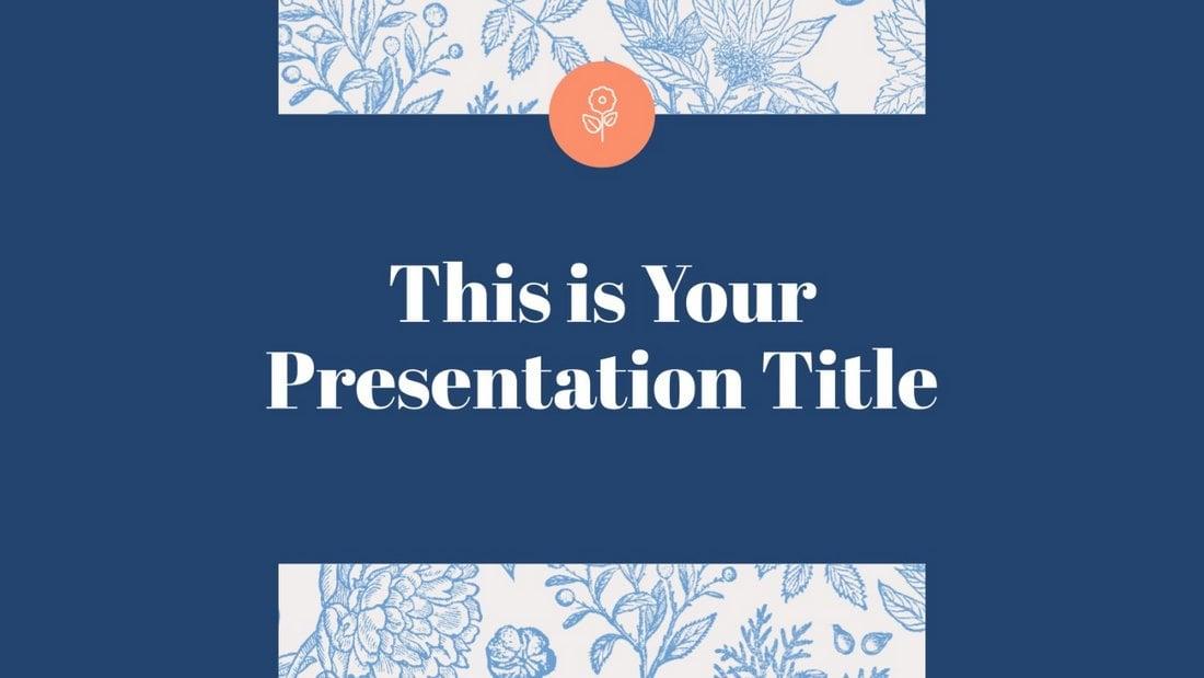 Free Stylish Botanical PowerPoint Template