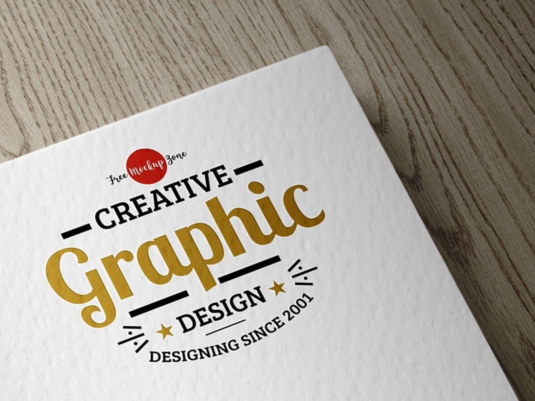 Free Textured Logo Mockup PSD