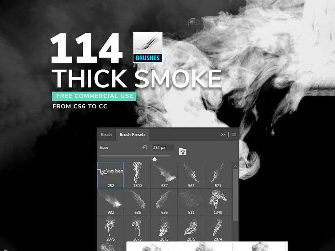 Free Thick Smoke Brushes