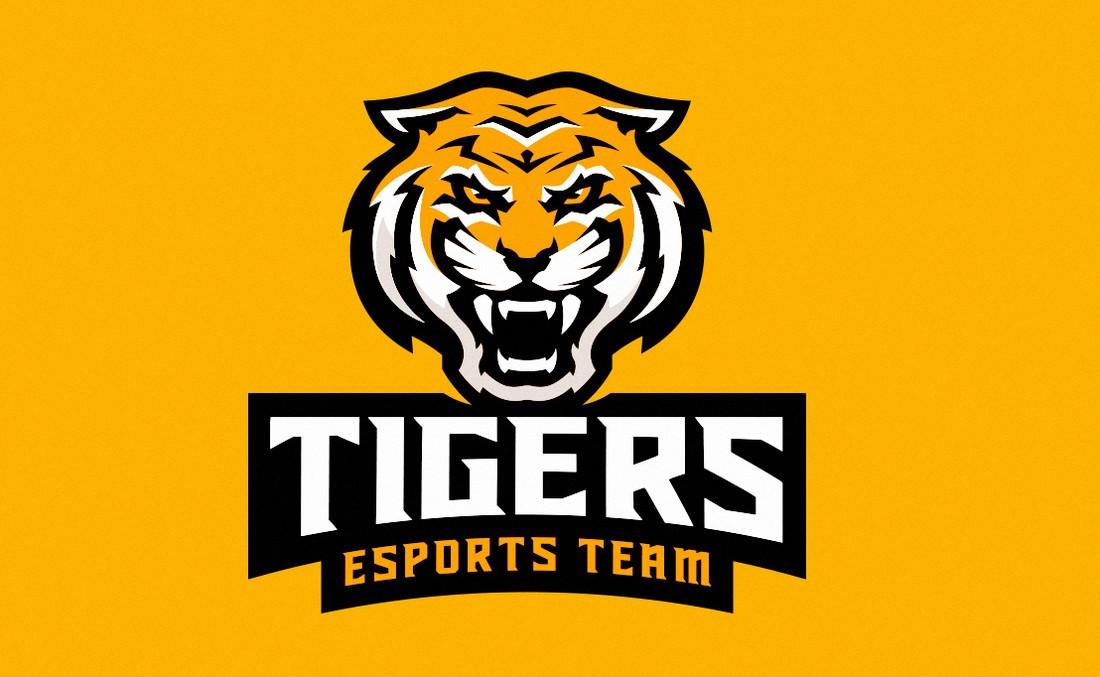 Free Tiger Mascot Gaming Logo Template