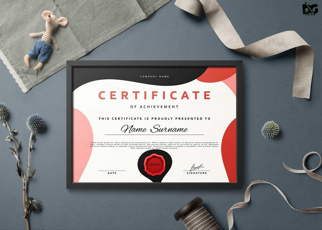 Free Training Certificate EPS Template