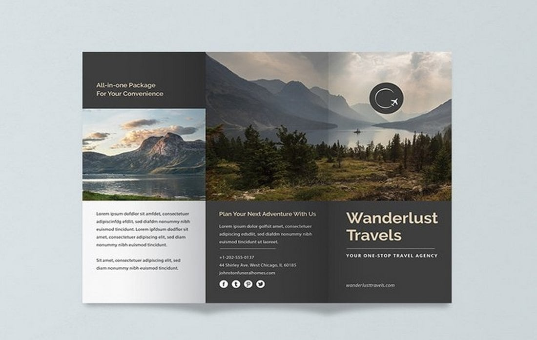 Free-Travel-Trifold-Brochure-Template 40+ Best Microsoft Word Brochure Templates 2020 design tips  Inspiration|brochure|templates