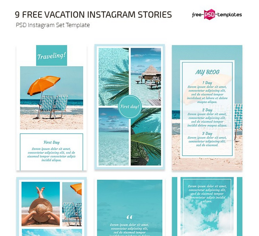 Free Travel & Vacation Instagram Story Templates