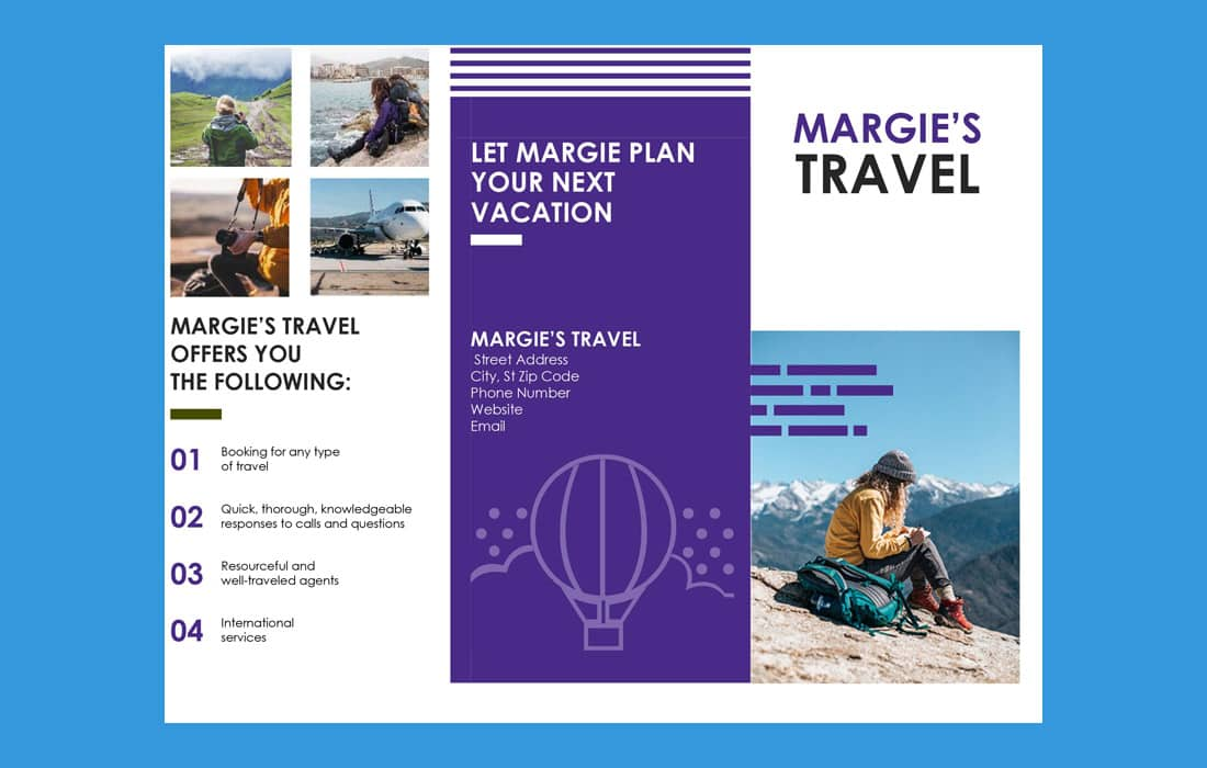 Free Travel Word Brochure Template