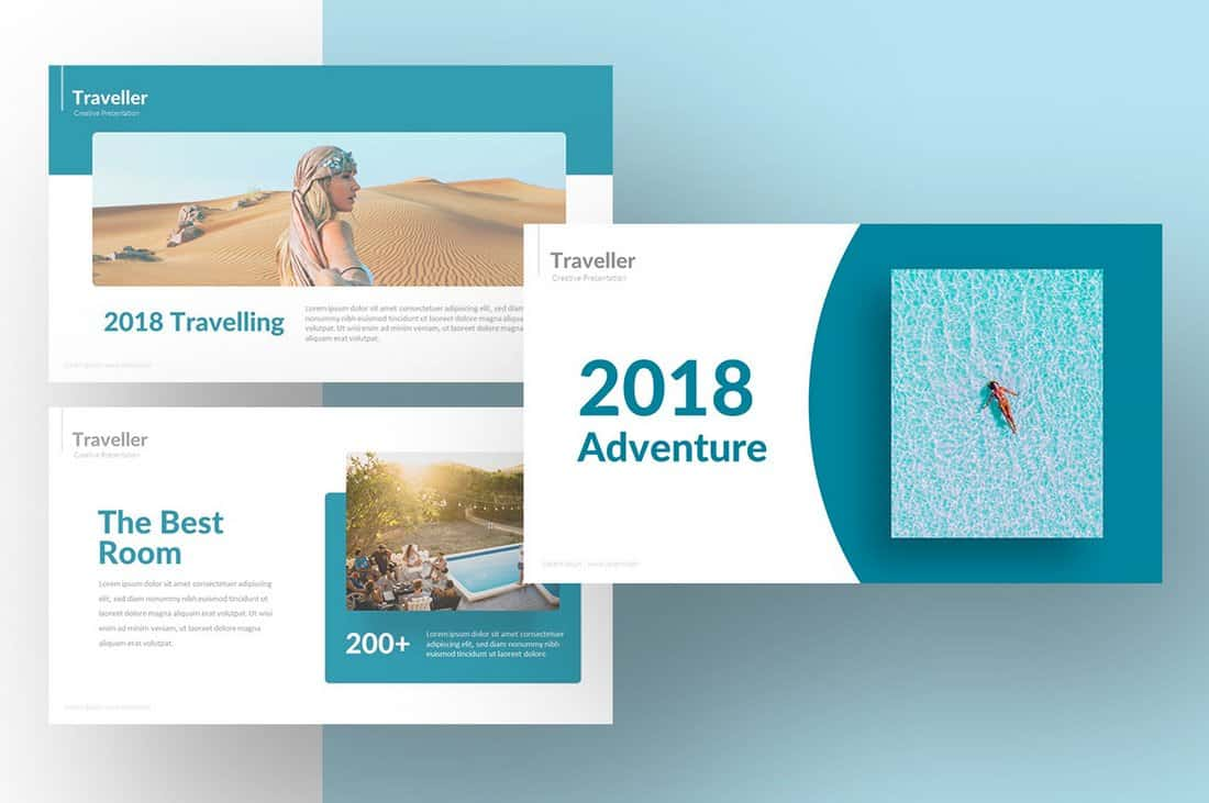 Free Traveller Powerpoint Template
