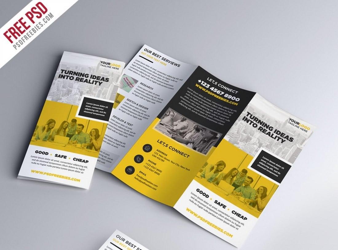 Free-Tri-fold-Brochure-PSD-Template 20+ Professional Brochure Templates & Designs design tips  Inspiration