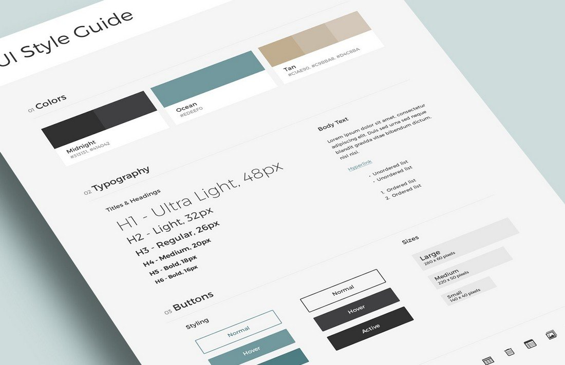Free-UI-Brand-Style-Guide-Template 20+ Best Brand Manual & Style Guide Templates 2020 (Free + Premium) design tips