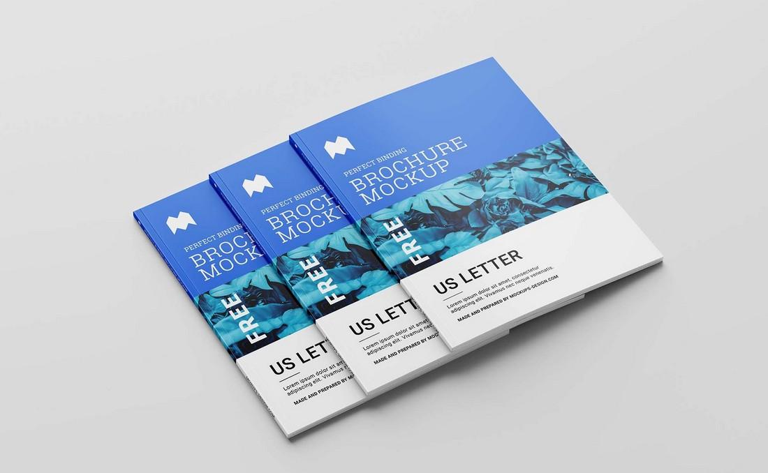 Free US Letter Brochure Mockup (PSD)