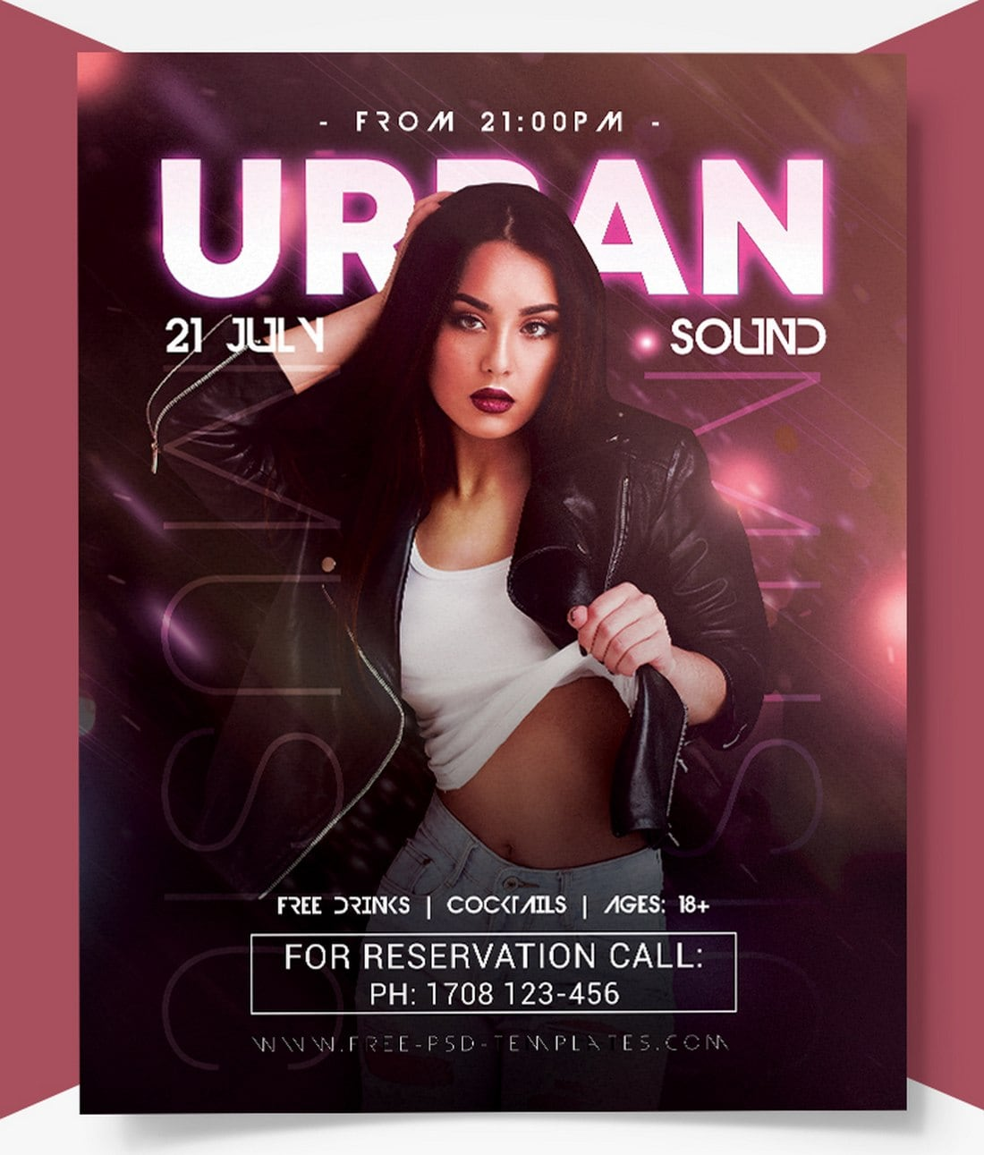 Free-Urban-Sound-Club-Flyer-Template 20+ Best Club Flyer Templates design tips  Inspiration