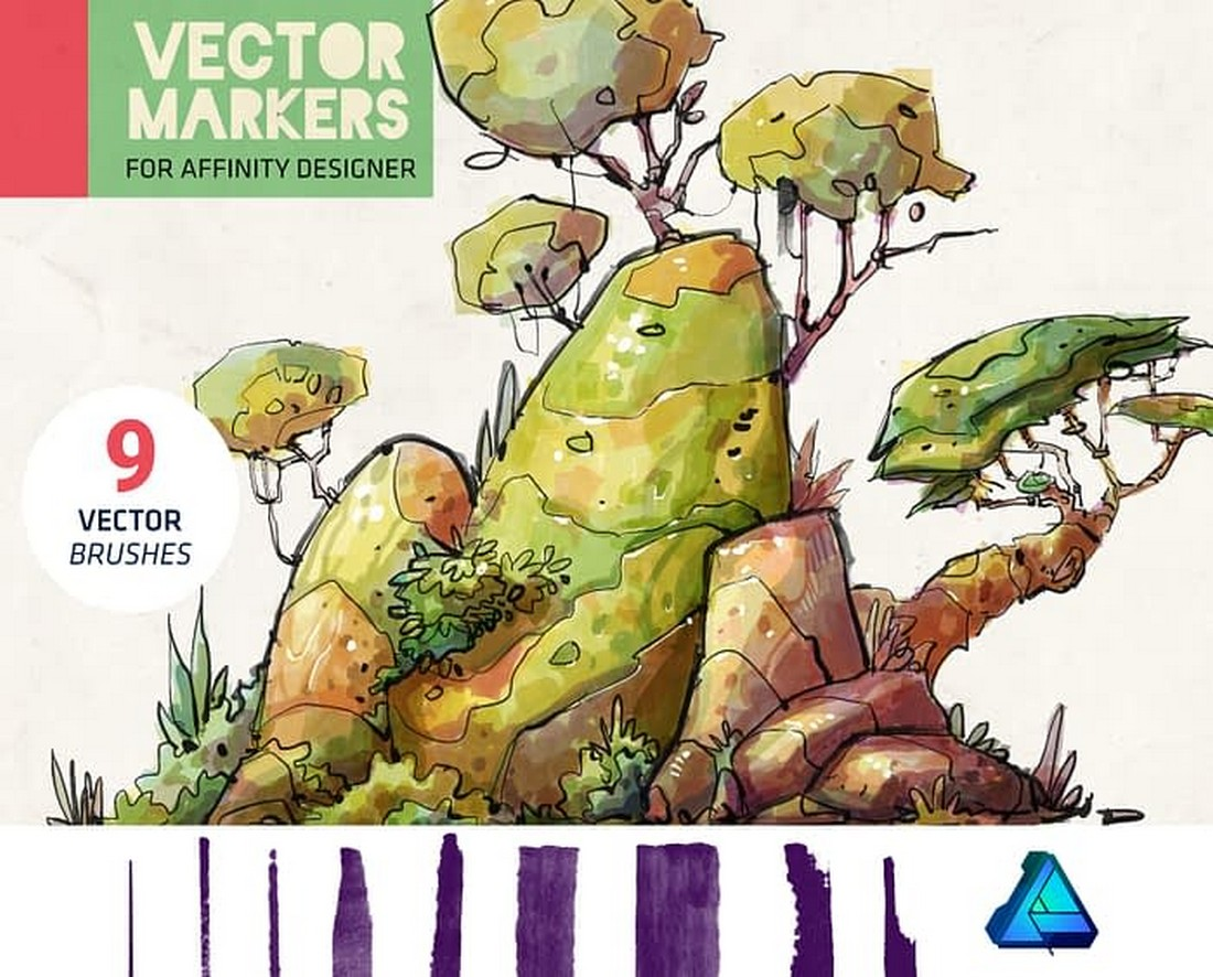 Free Vector Markers for Affinity Designer
