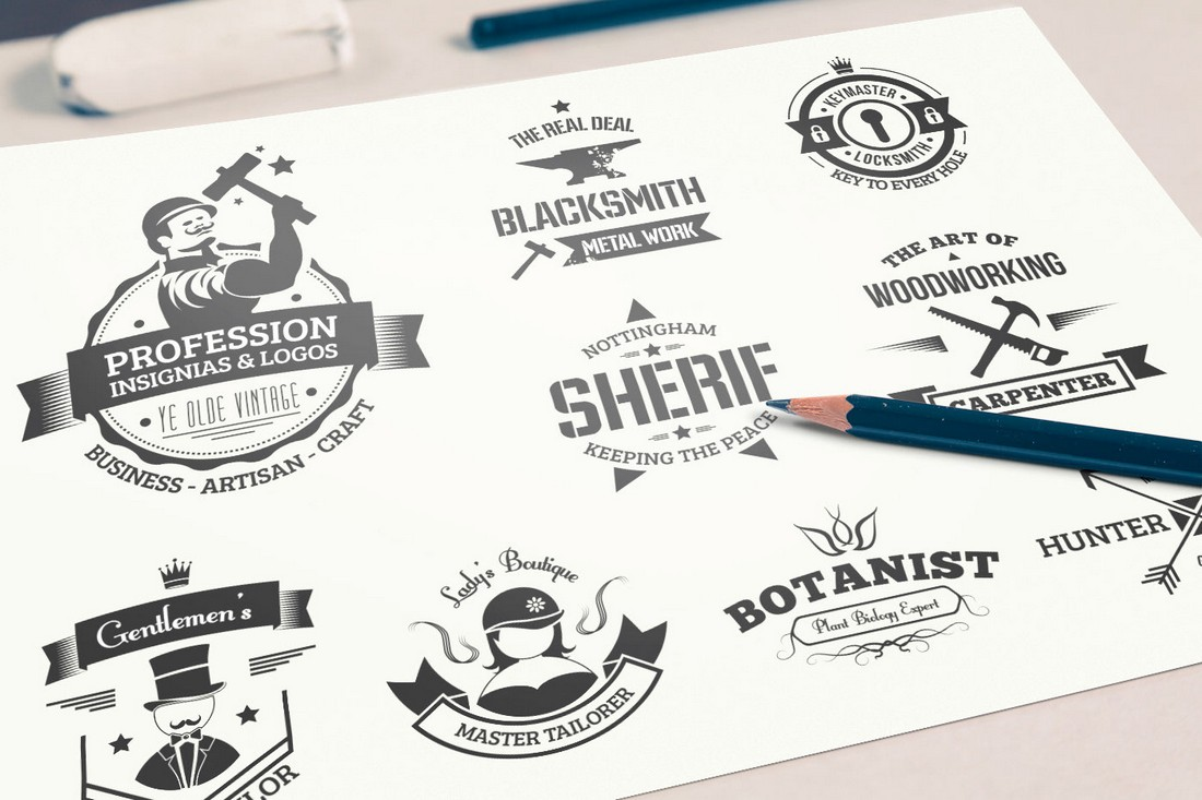 Free Vintage Badge & Logo Templates