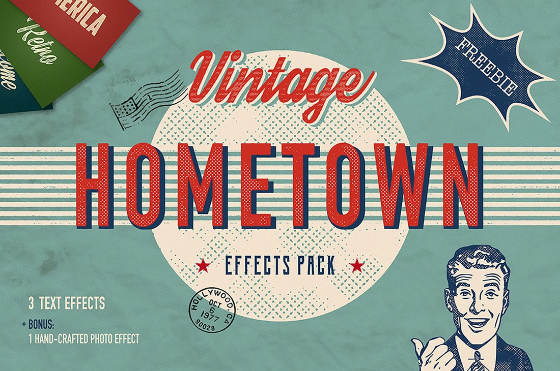 Free Vintage Effects Pack for Photoshop
