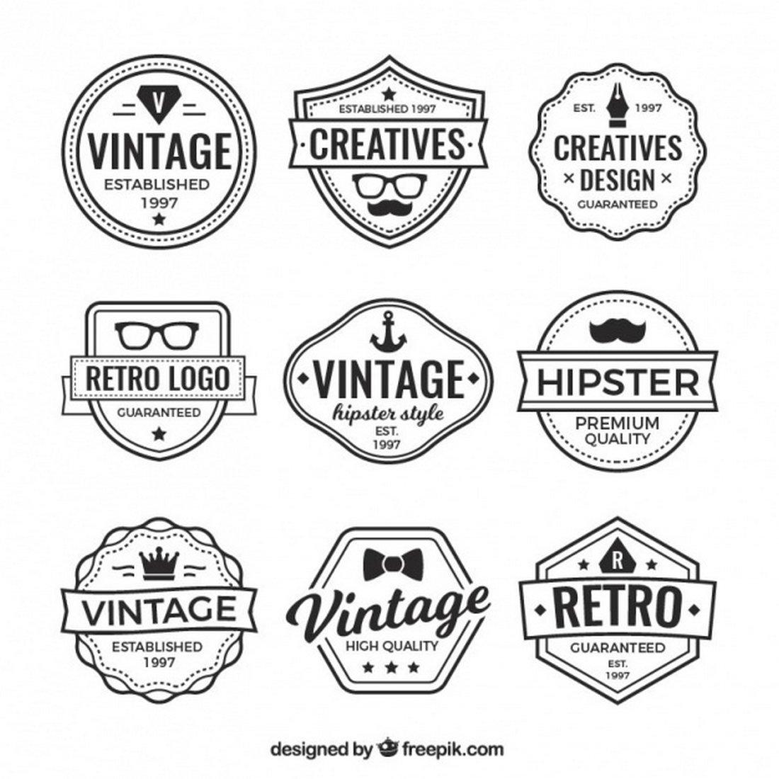 Free Vintage Hipster Logo Templates