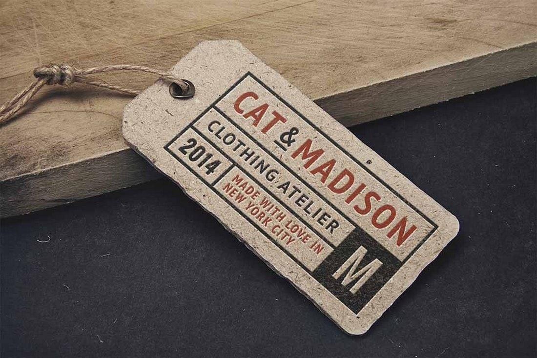 Free Vintage Label Tag Mockup
