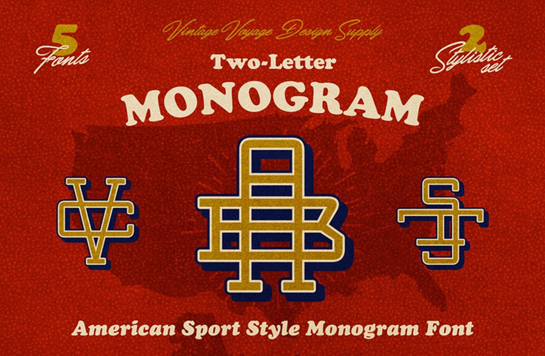Free Vintage Monogram Font
