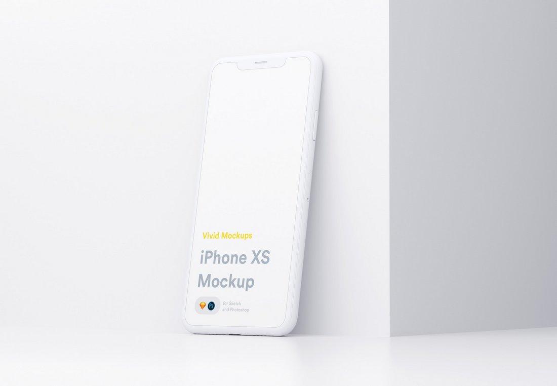 Free Vivid iPhone XS Mockup