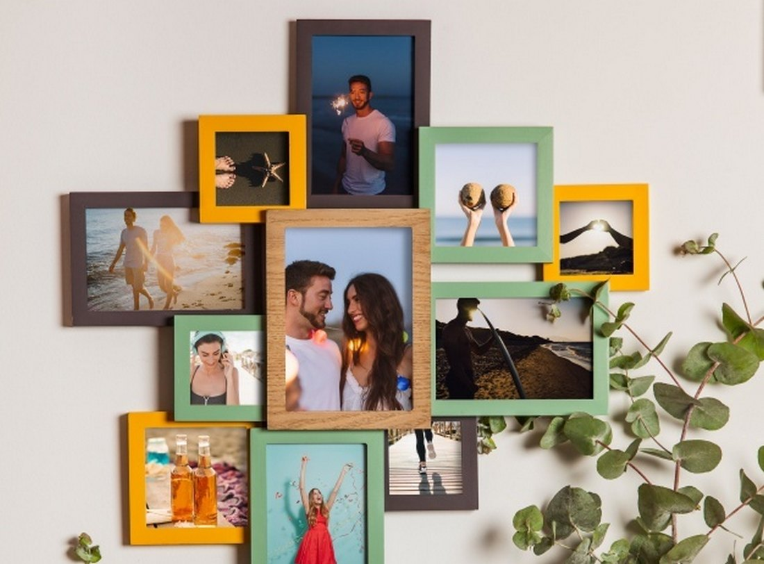 Free Wall Photo Collage Template