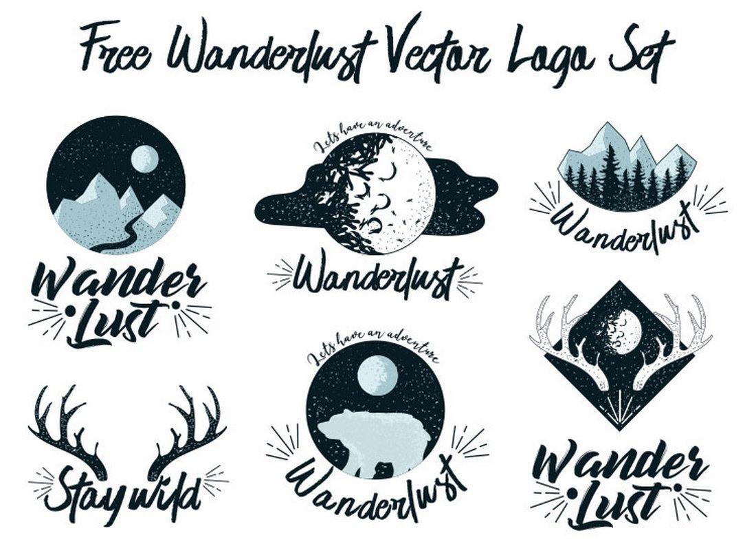 Free Wanderlust Logo Bundle