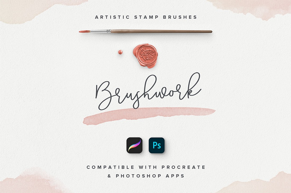 Free Watercolor Photoshop Stamp Brushes