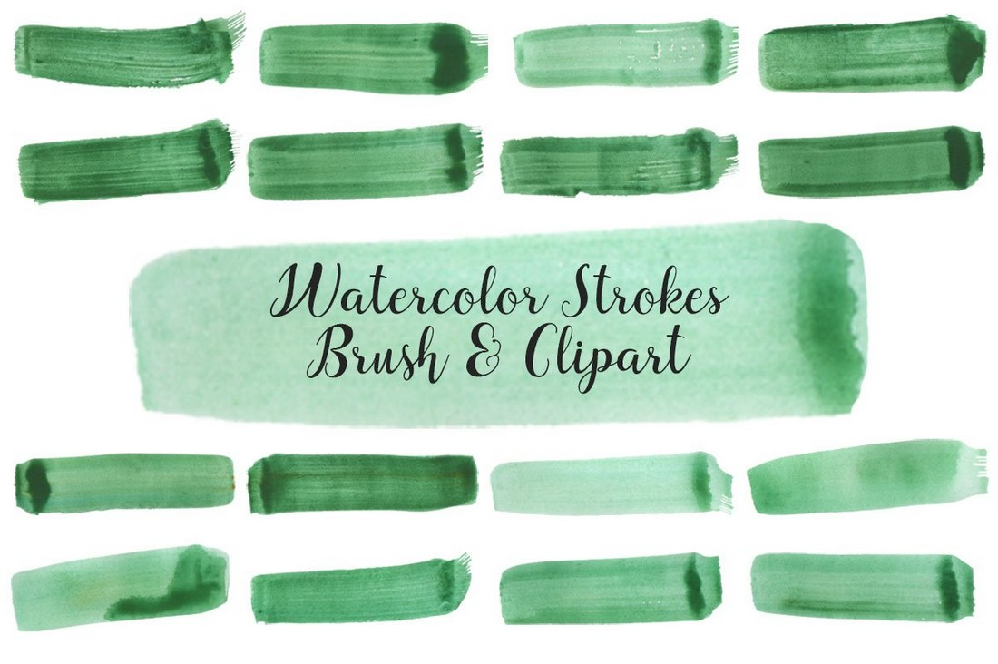 Free Watercolor Strokes PNG and Brushes