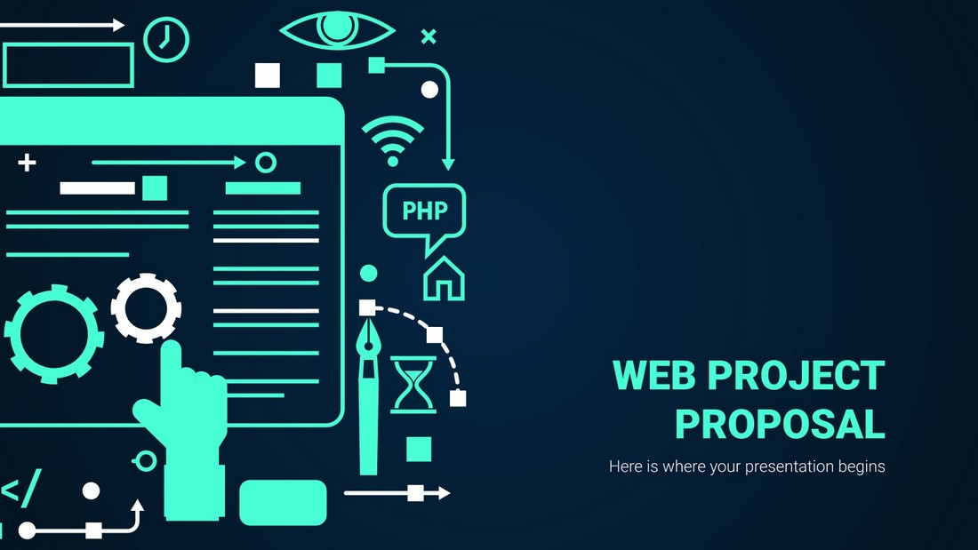 Free Web Project Proposal PowerPoint Template